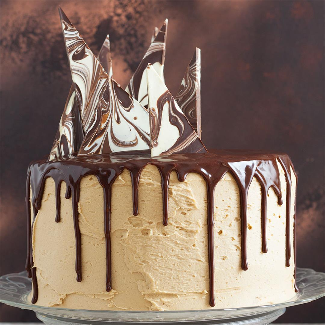 Mocha Drip Cake