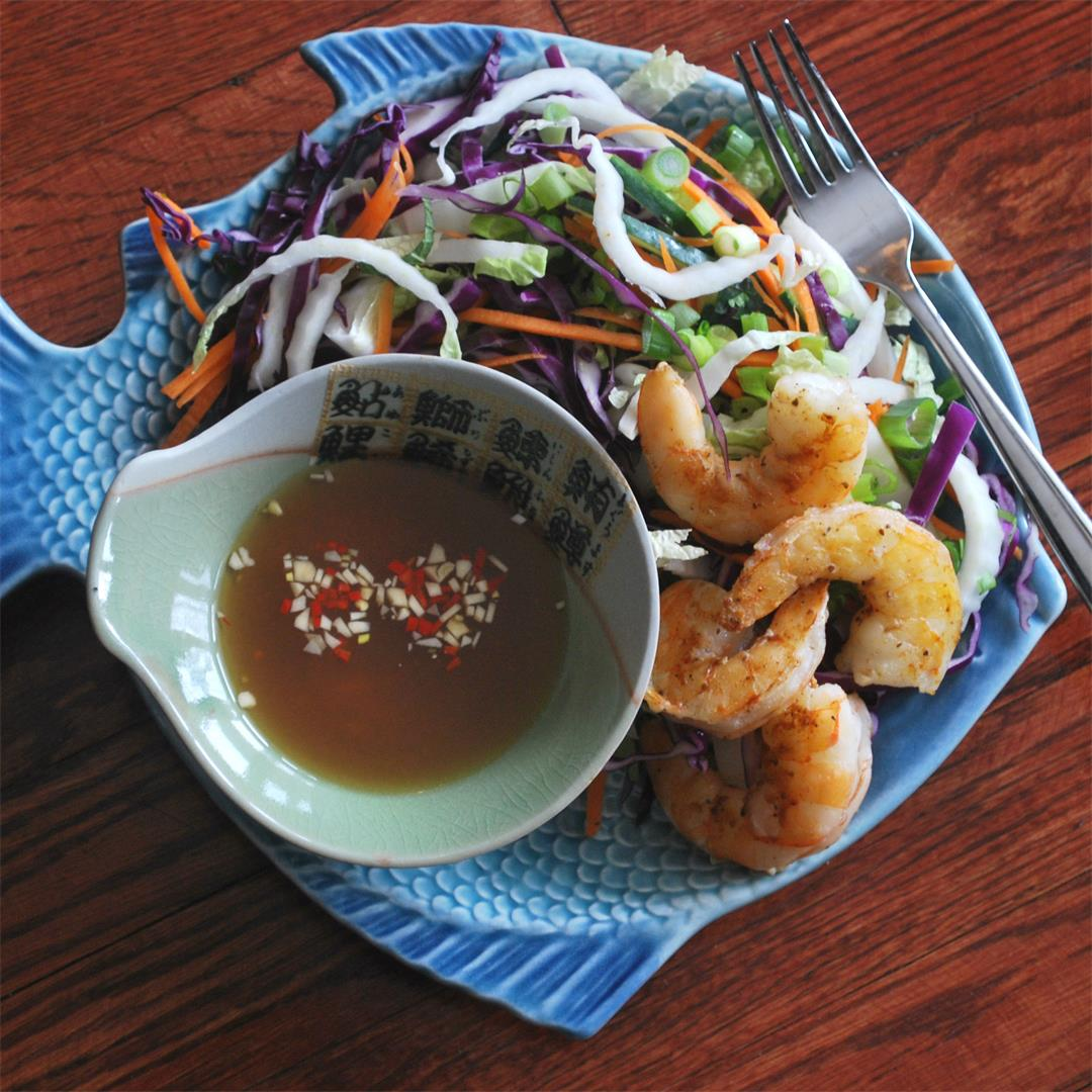 Vietnamese Shrimp Salad with a tangy lime dressing