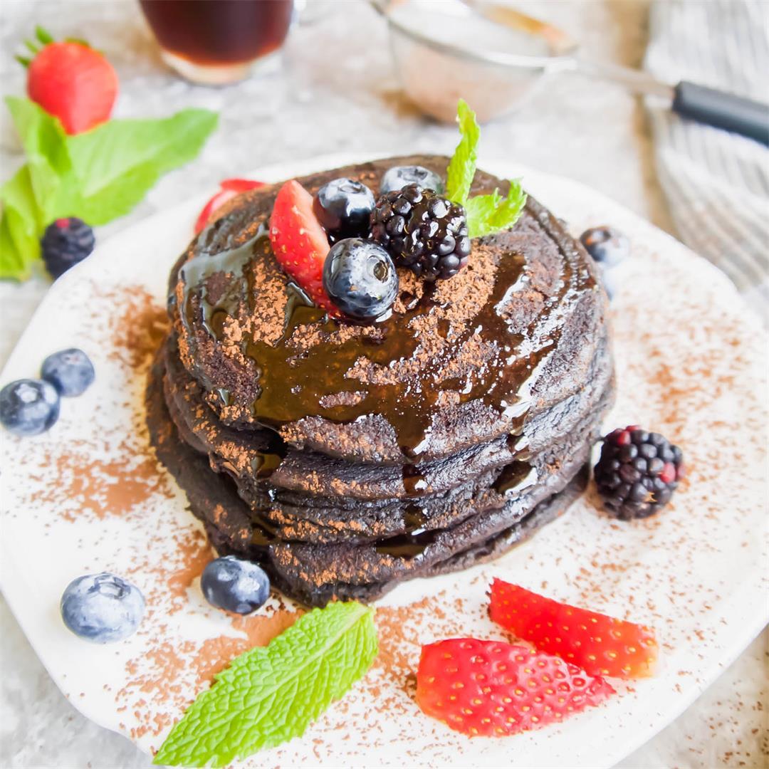 Paleo Carob Pancakes (GF)