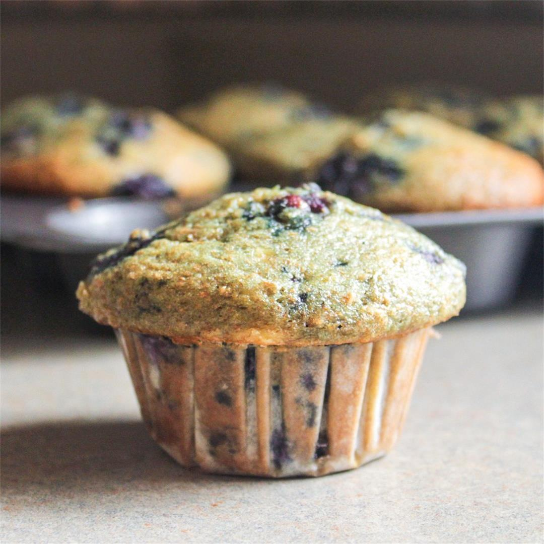 Lemon-Blueberry-Banana Muffins
