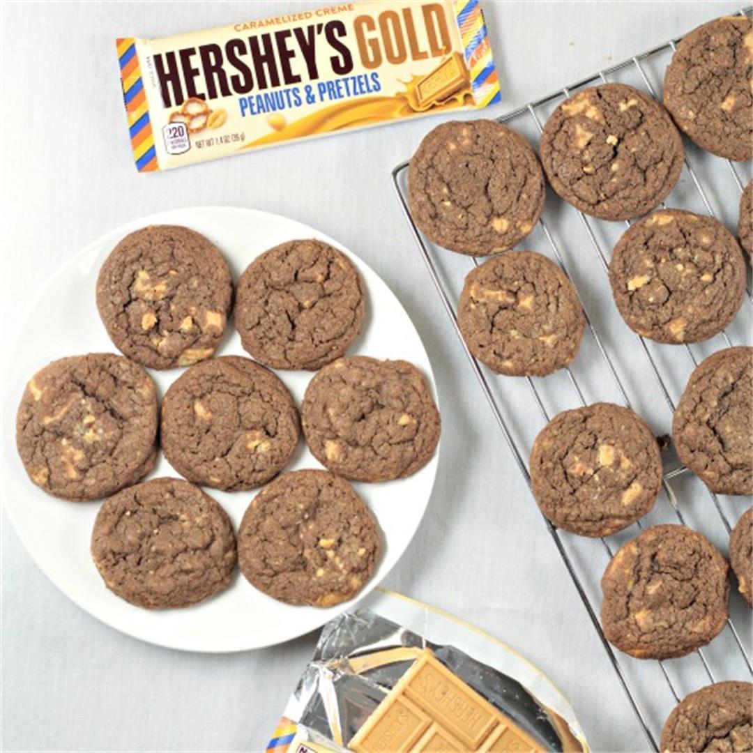 Chocolate Hershey's Gold Cookies