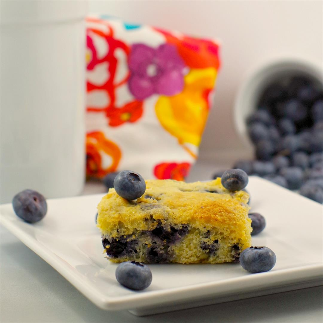 Healthy & Light Blueberry Cornbread