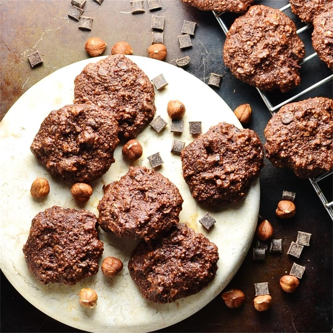 Flourless Chocolate Hazelnut Cookies