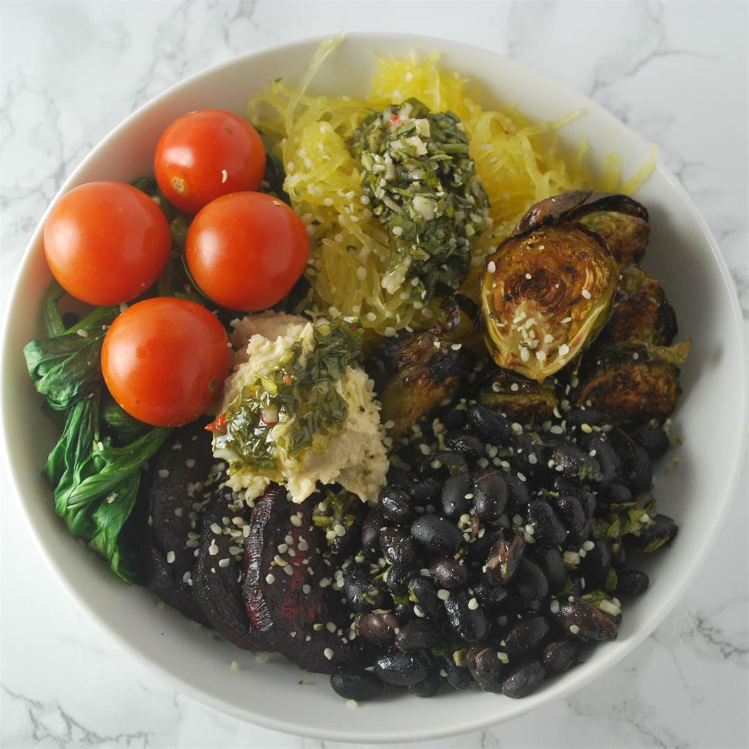 Vegan Roasted Winter Vegetable Bowls