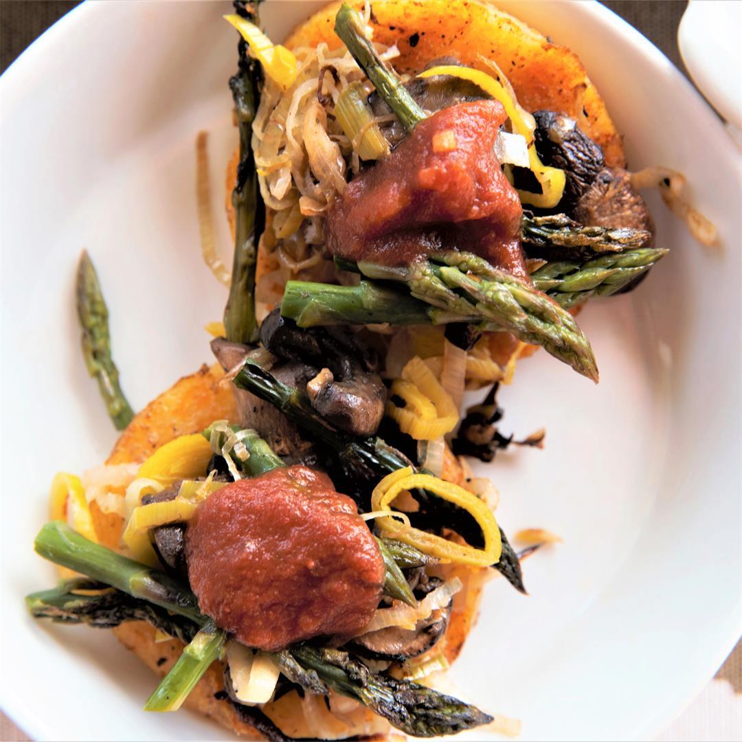 Grilled Polenta and Vegetables