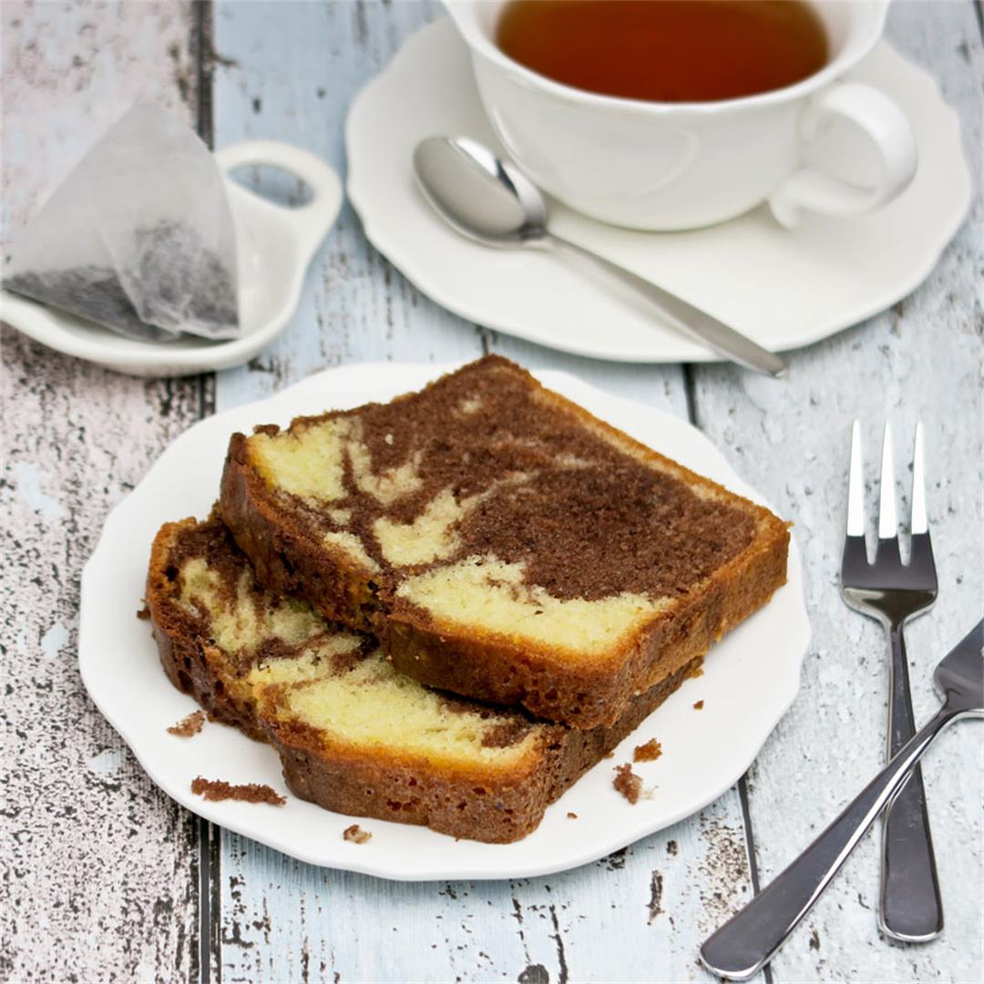 Good old marble cake, the classic you make over and over again!