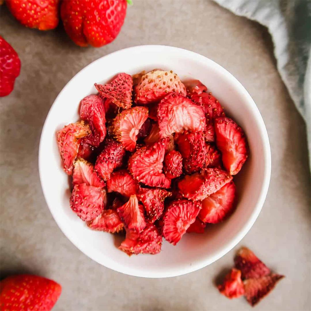 Oven-Dried Strawberries (Paleo, GF, Whole30)