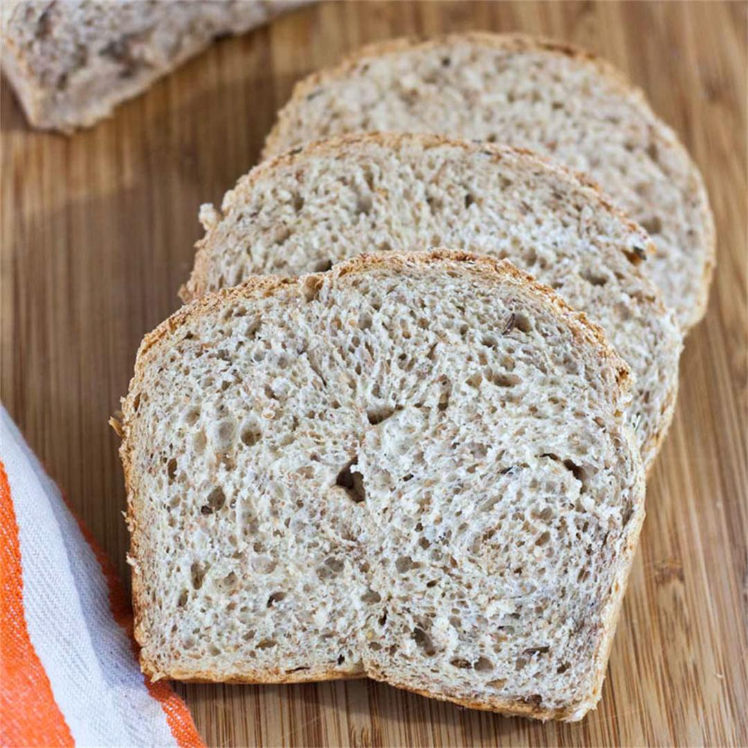 Light Caraway Rye Bread for the Bread Machine