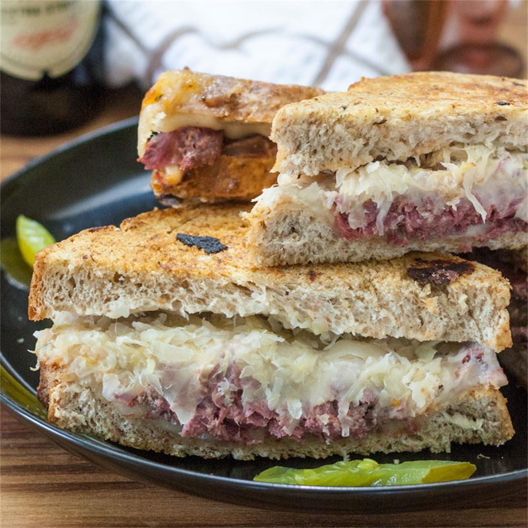 Reuben Sandwich with Corned Venison