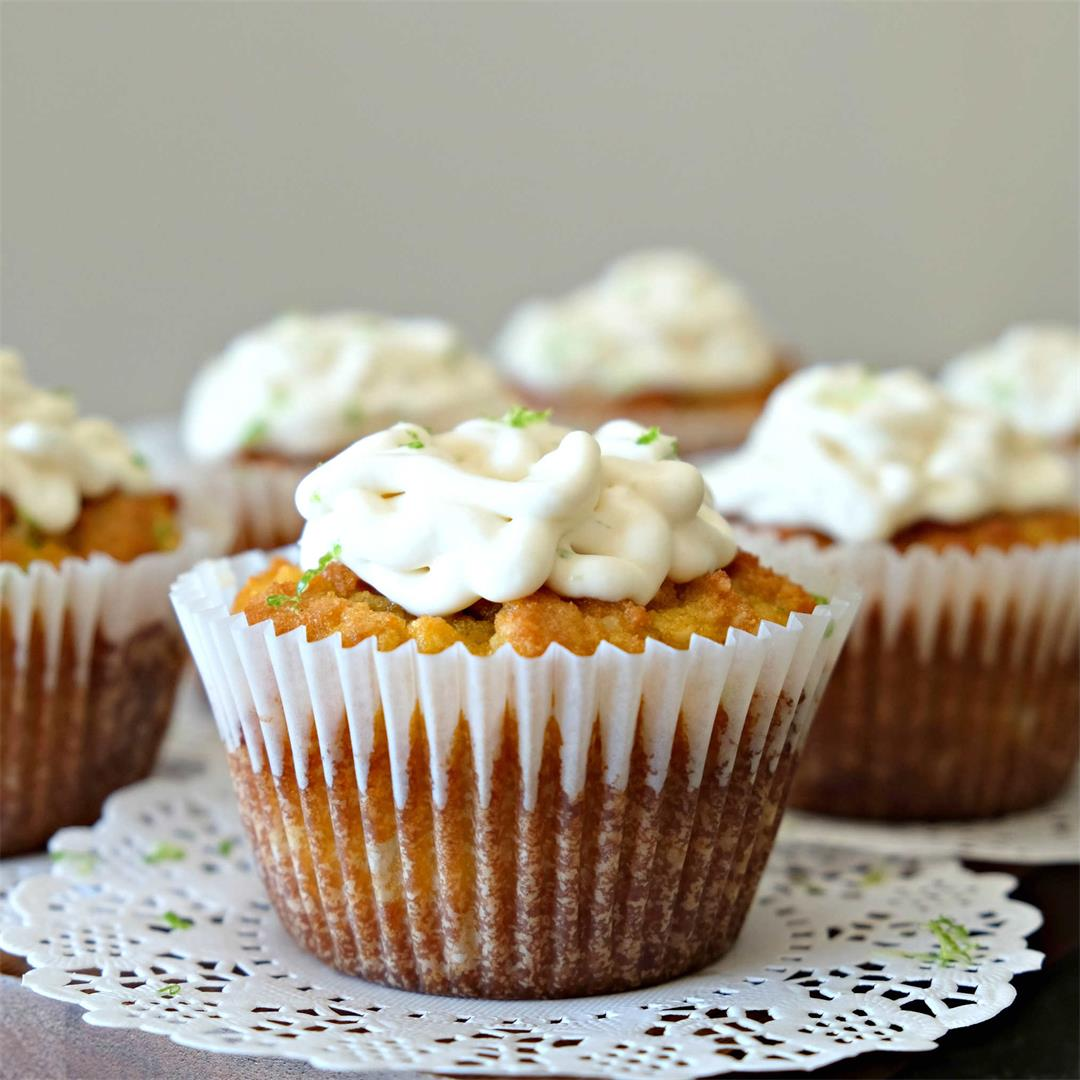 Gluten-Free Coconut Key Lime Cupcakes