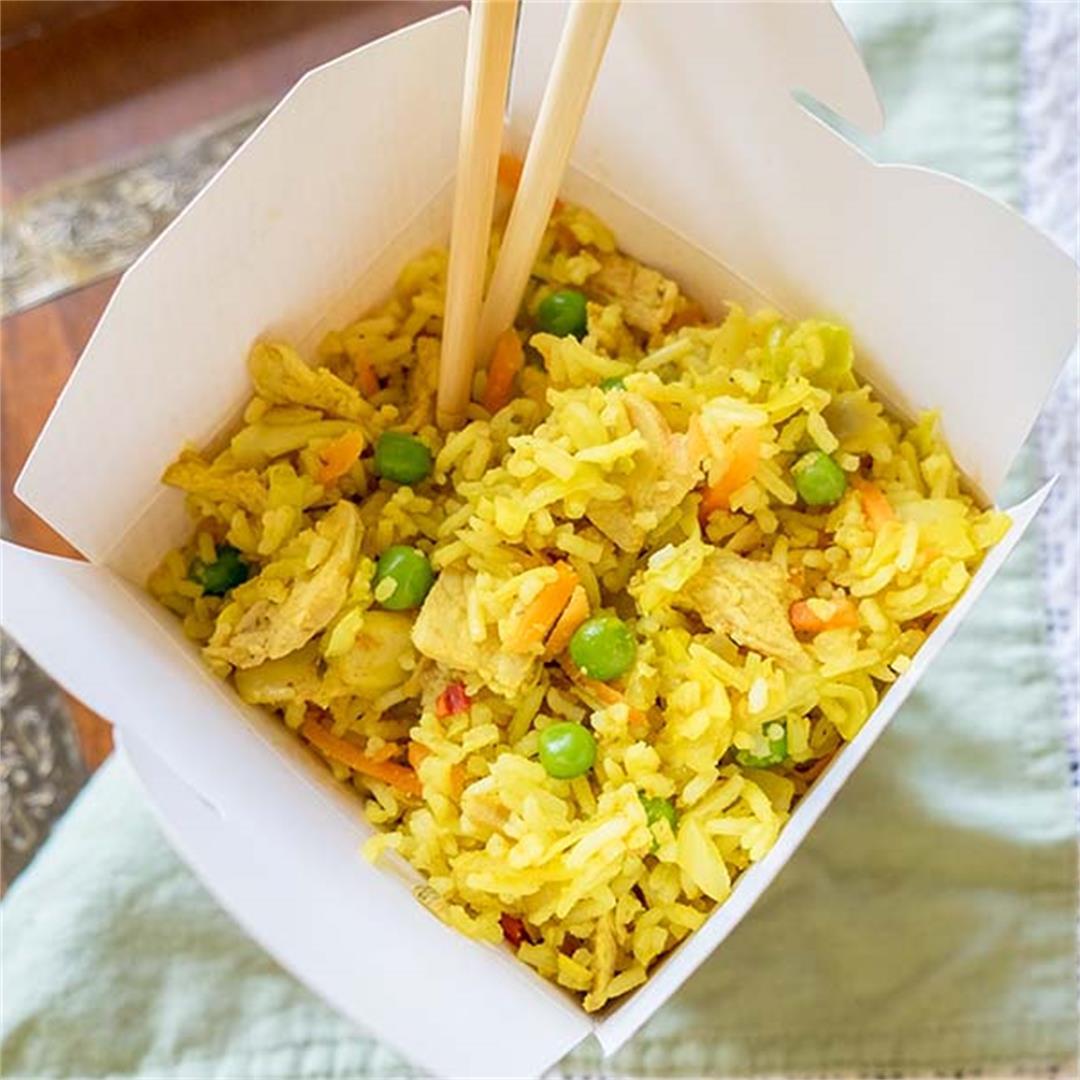 Easy Curry Pork Fried Rice