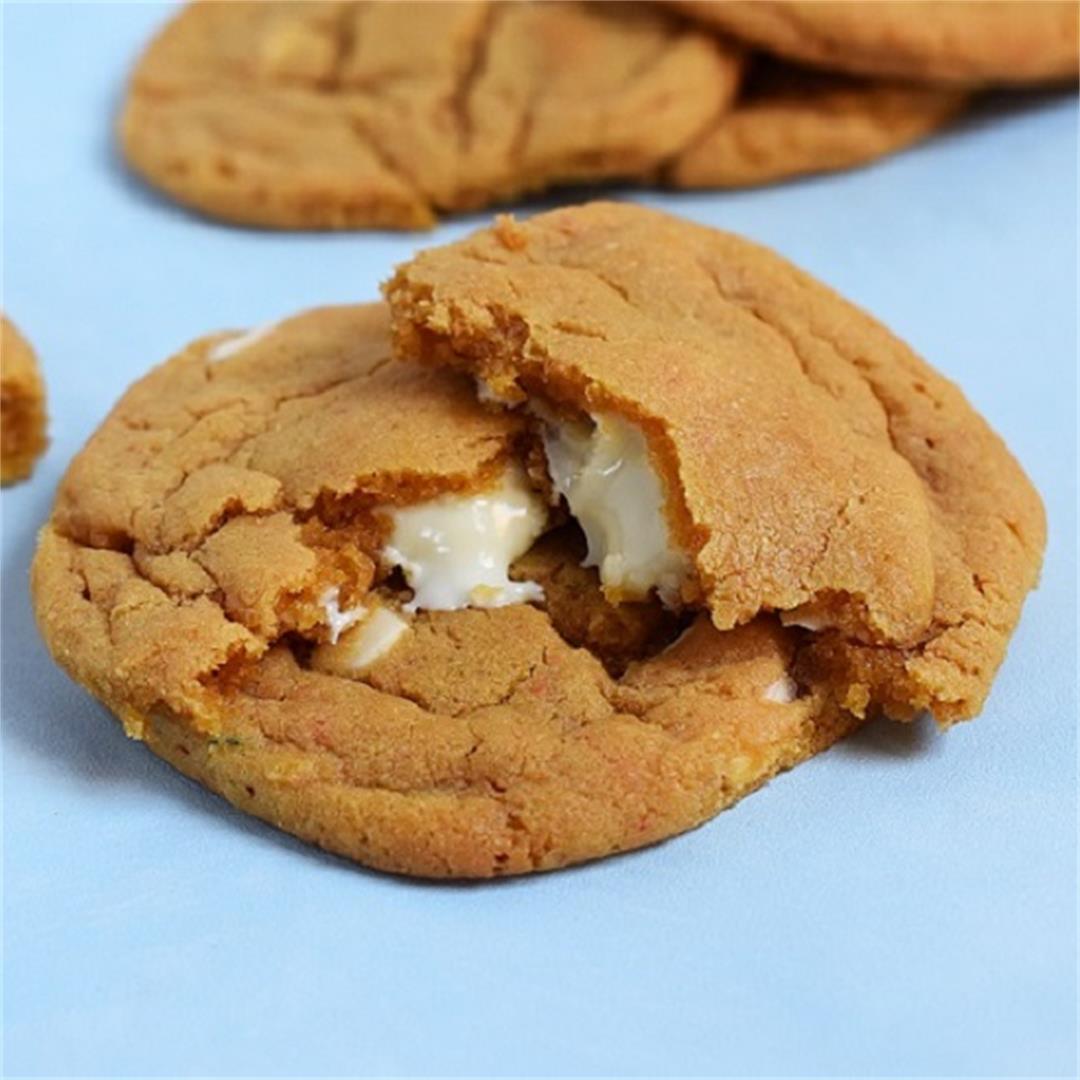 White Chocolate Stuffed Butterscotch Cookies