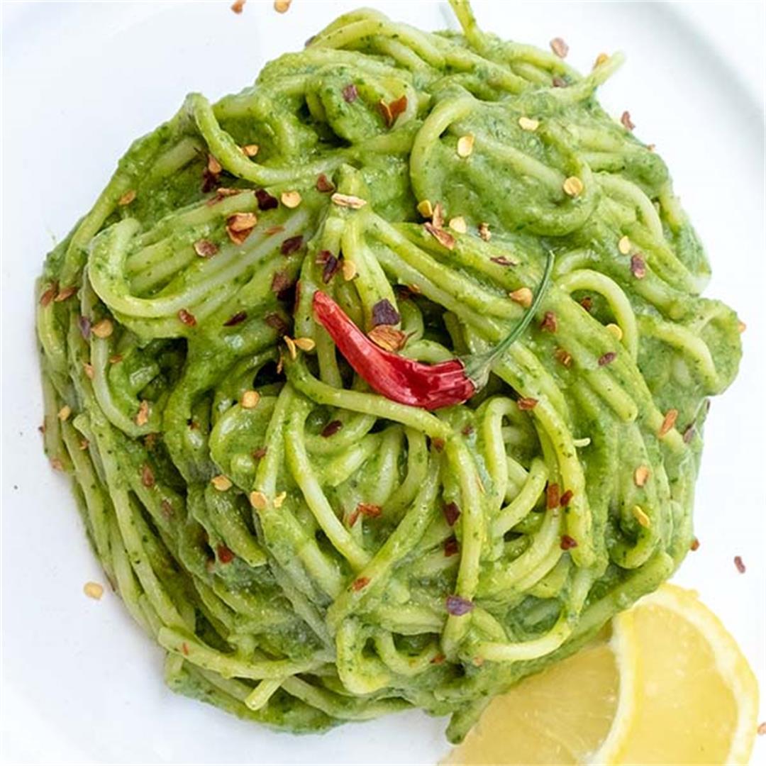 Vegan Creamy Avocado Pasta