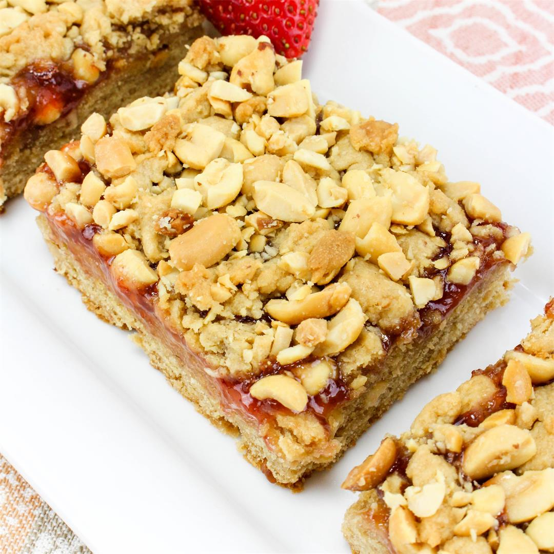 Peanut Butter and Jelly Snack Bars