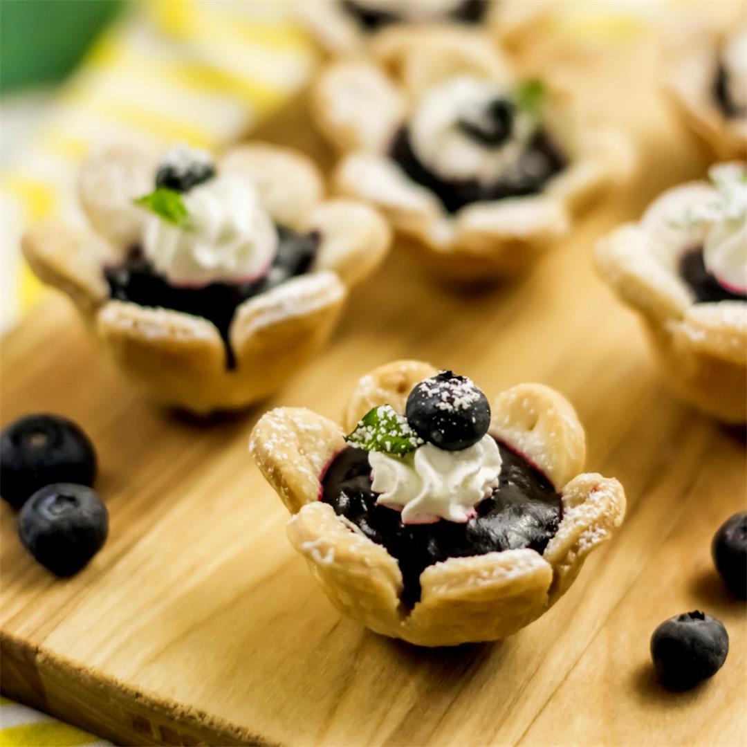Flower Blueberry Tarts