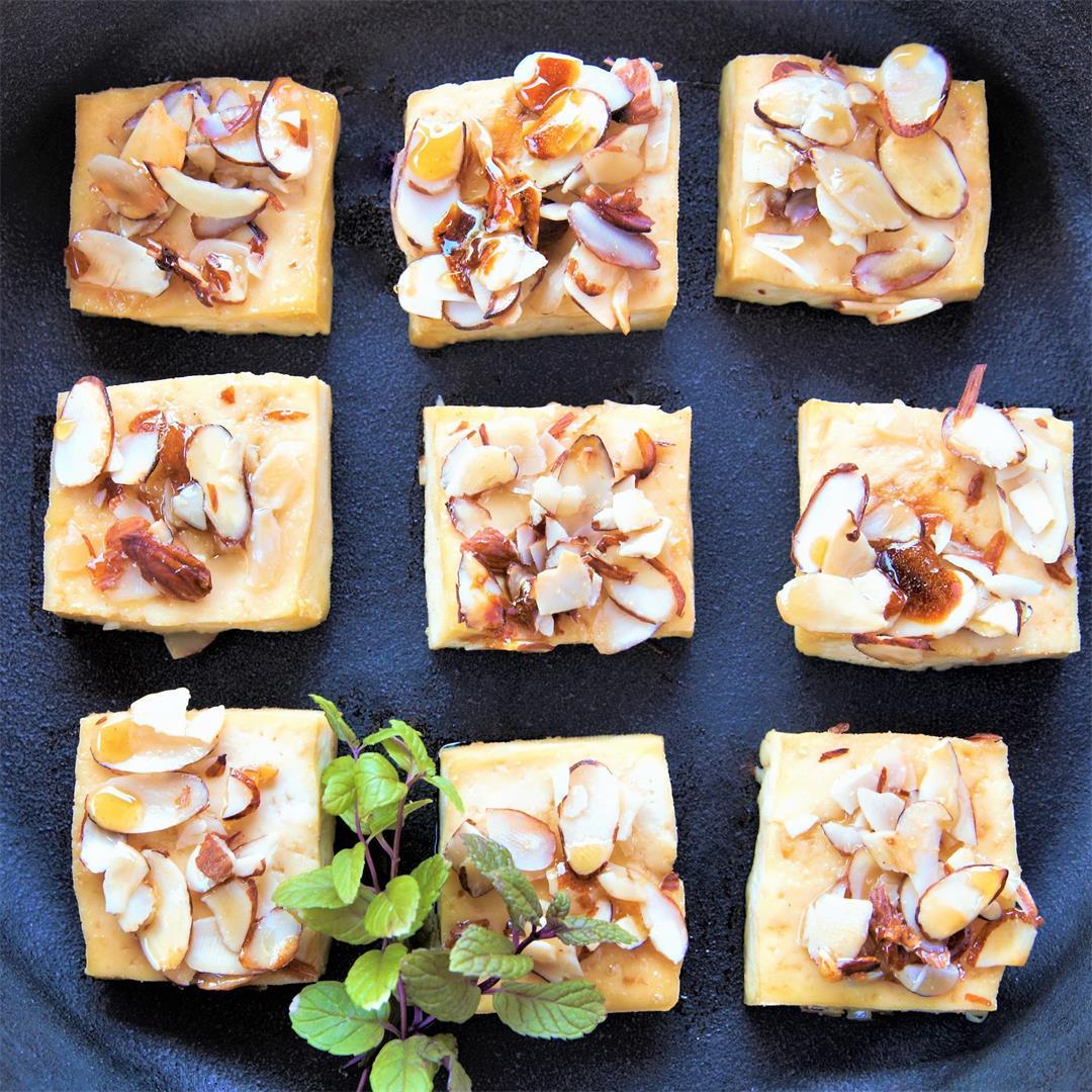 Maple Almond Encrusted Tofu