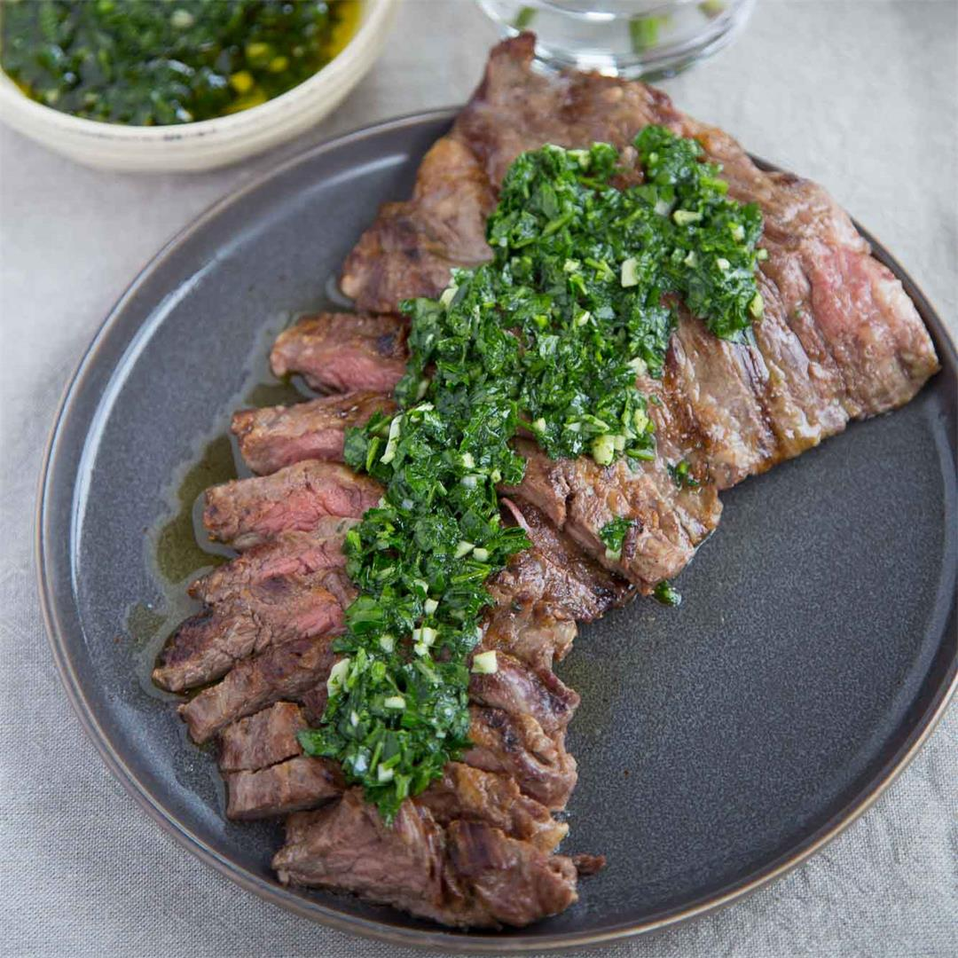 Cuban Skirt Steak with Chimichurri