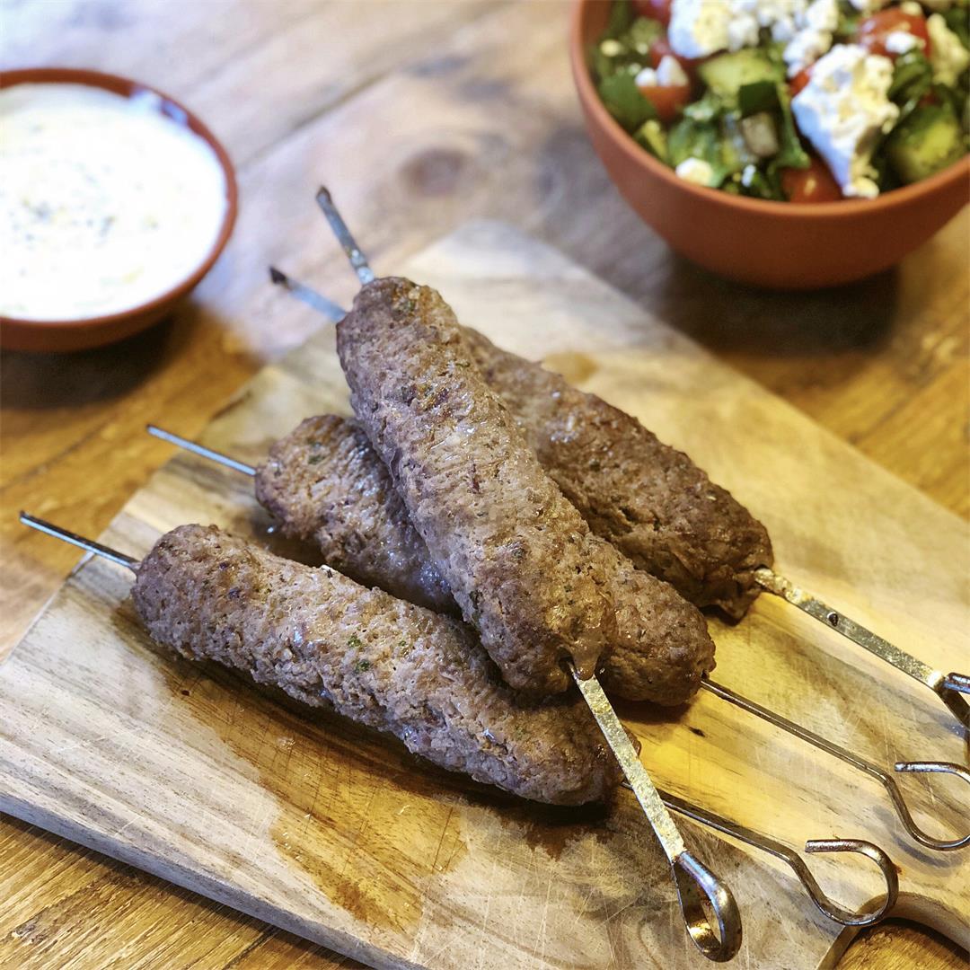 Greek Inspired Beef Souvlaki