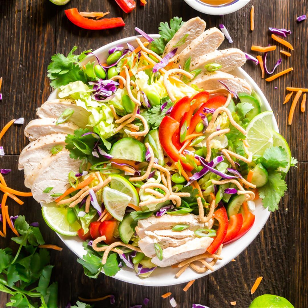 Rainbow Asian Chicken Salad Recipe