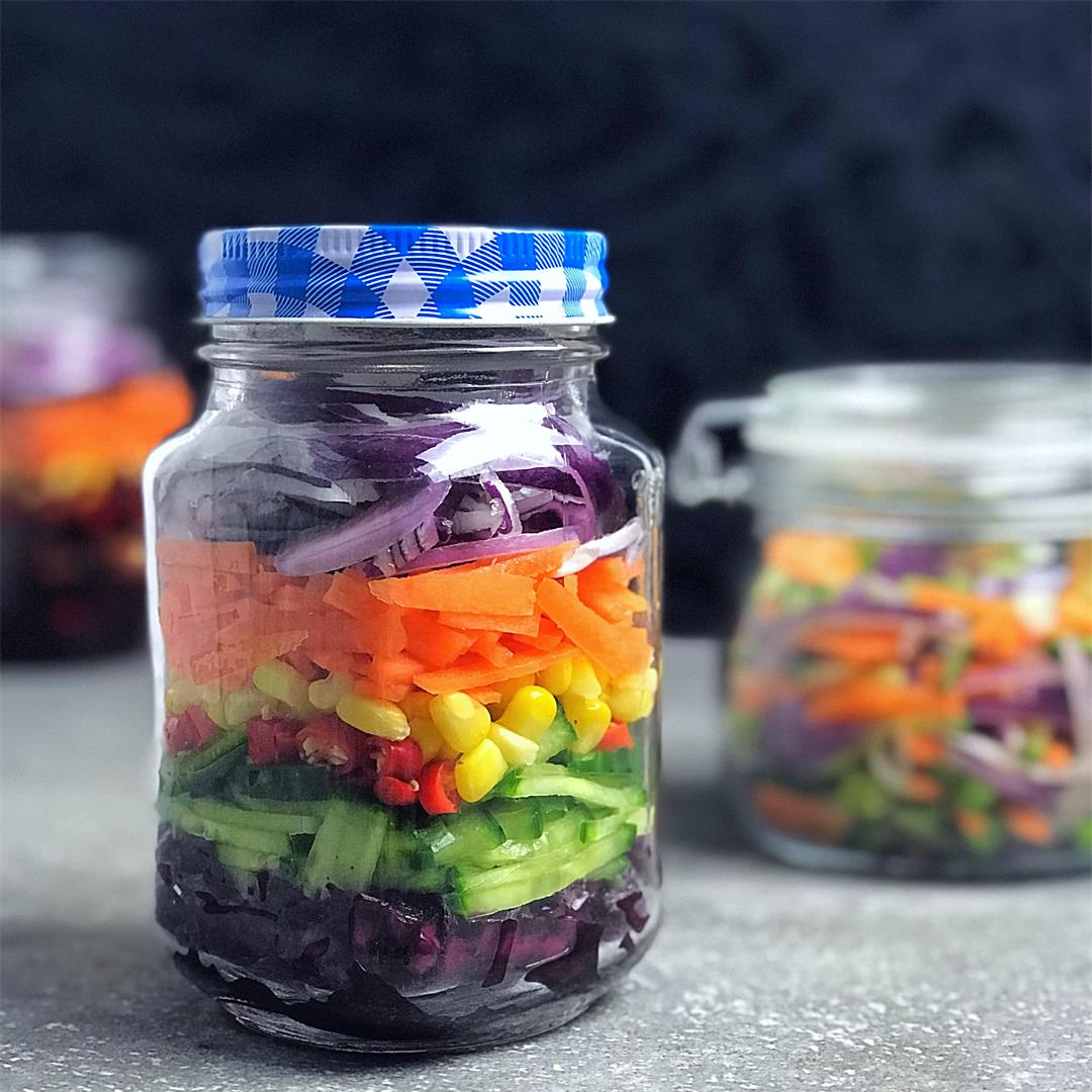 Rainbow Pickled Vegetables