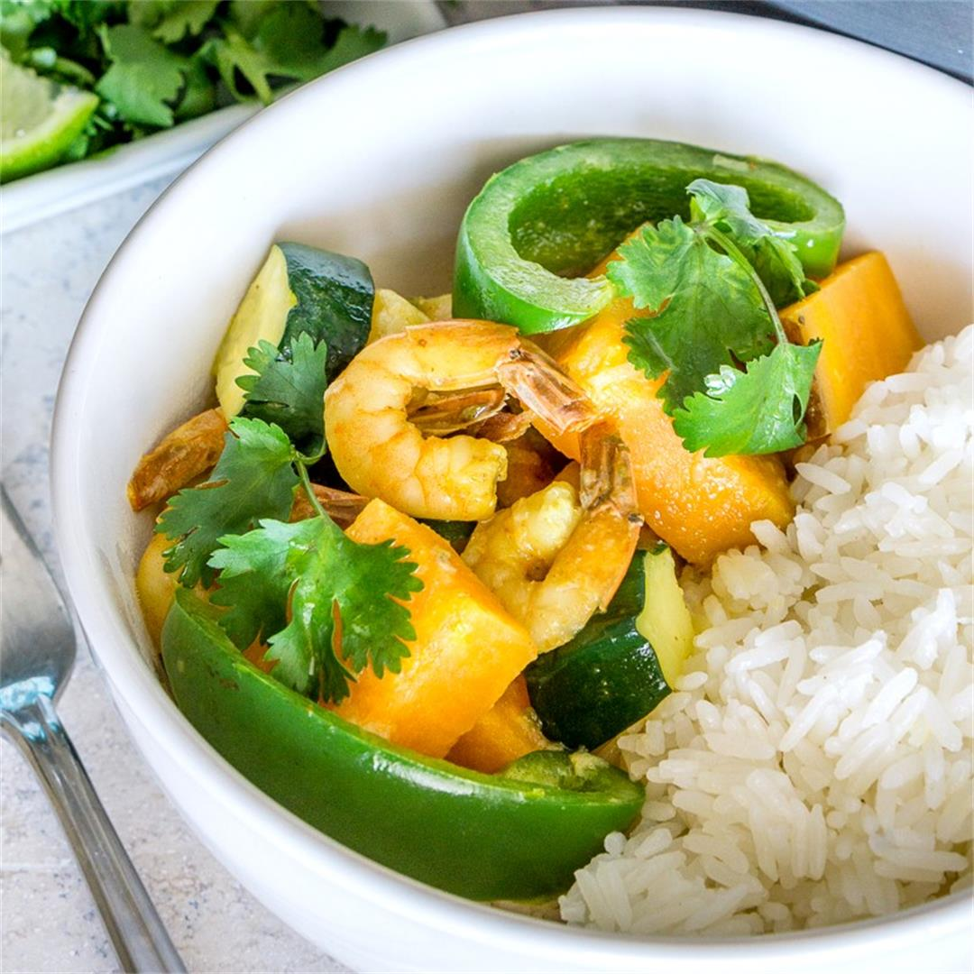 Shrimp & Sweet Potato Coconut Curry