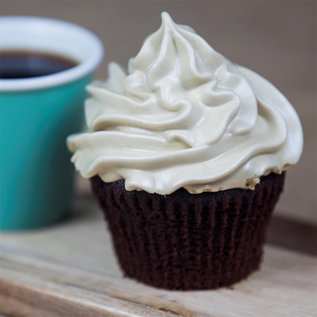 Dark Chocolate Espresso Cupcakes