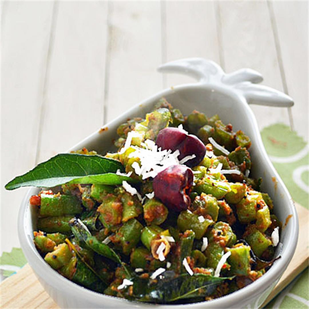 Beans mezhukkupuratti kerala style recipe