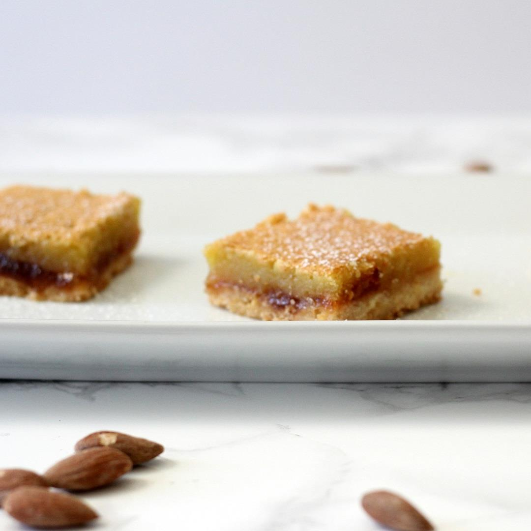 Layered Almond Shortbread Bars
