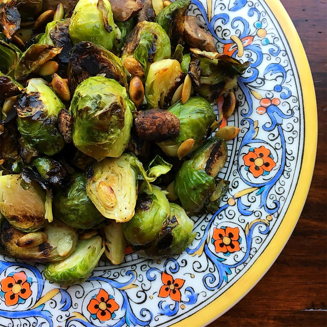 $1.25 and 30 Minute Crispy Brussels Sprouts