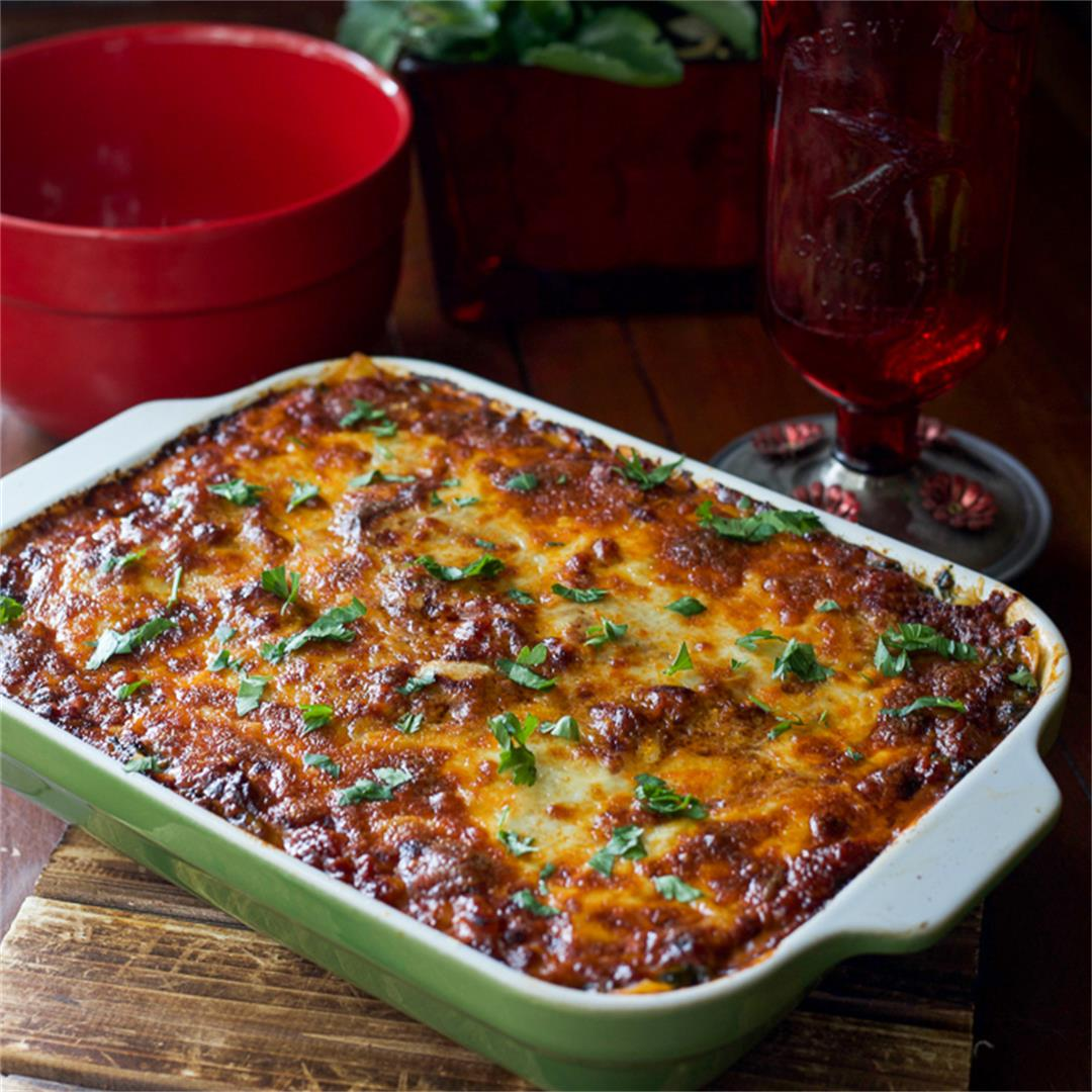 The Best Lasagna Recipe Ever with Spinach and Mushrooms