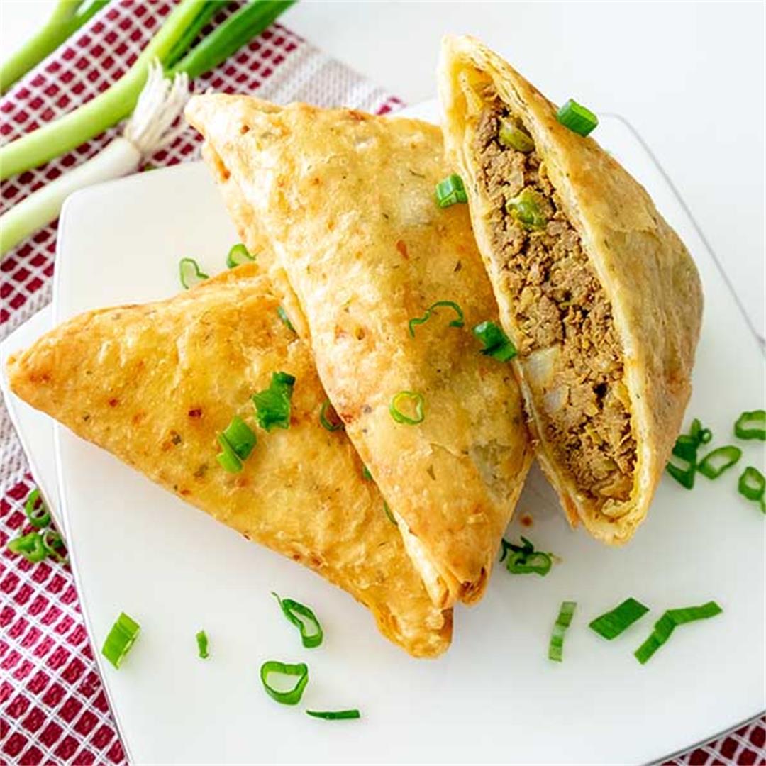 Gluten-Free Spicy Beef Samosas