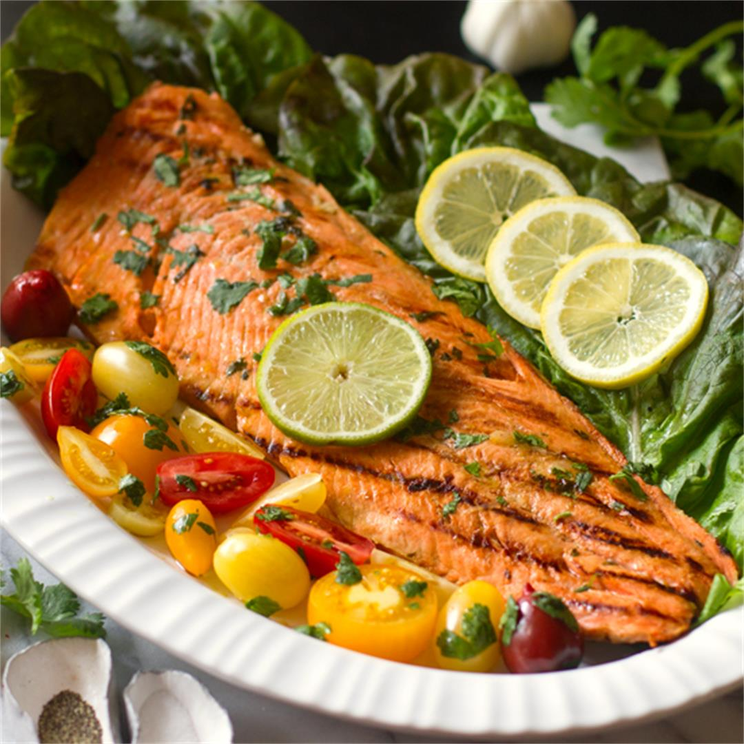 Cuban Marinated Grilled Salmon