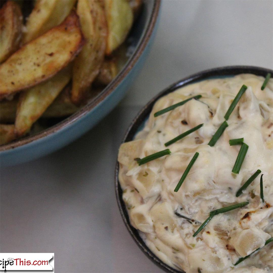 Crockpot French Onion Dip & Chips
