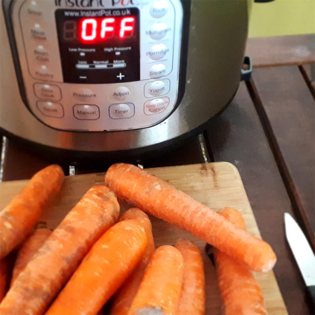 Instant Pot Carrots (steamed in just 3 minutes)