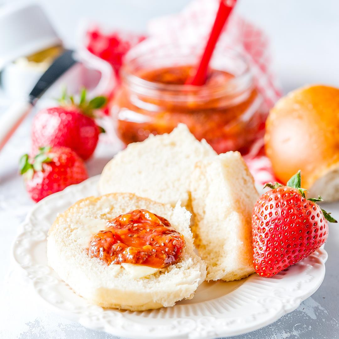 Instant Pot Strawberry Chia Jam is delicious, healthy, and easy