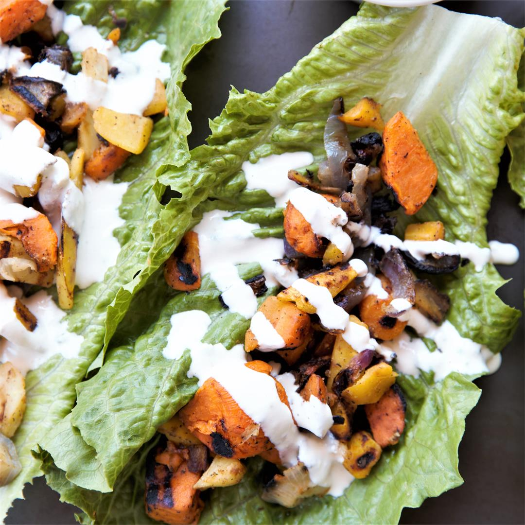 Roasted Harvest Lettuce Wraps