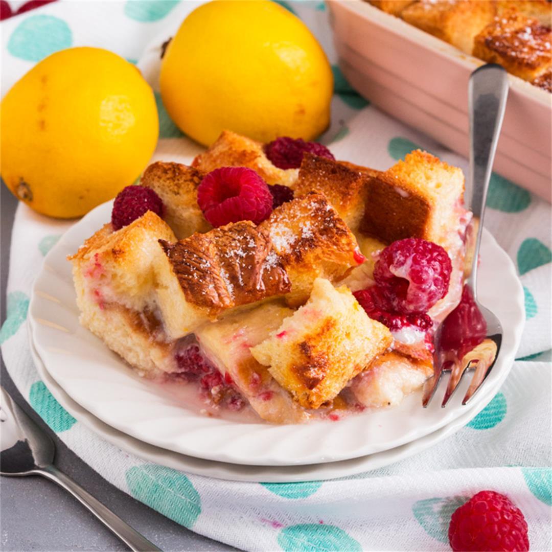 Lemon and Raspberry French Toast Bake