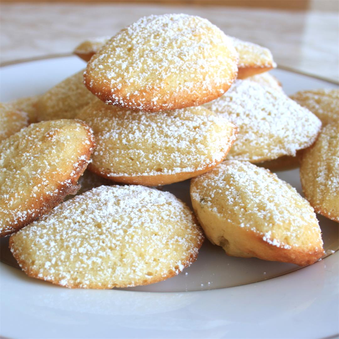 French Madeleines with Cardamom and Lime