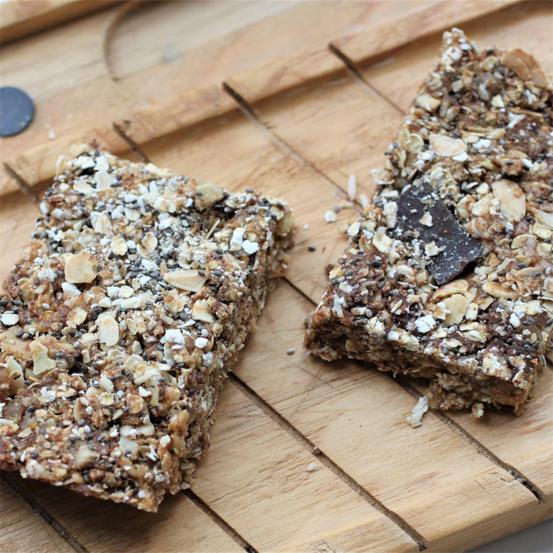 No Bake Granola Bars (Oil Free, Vegan, GF)