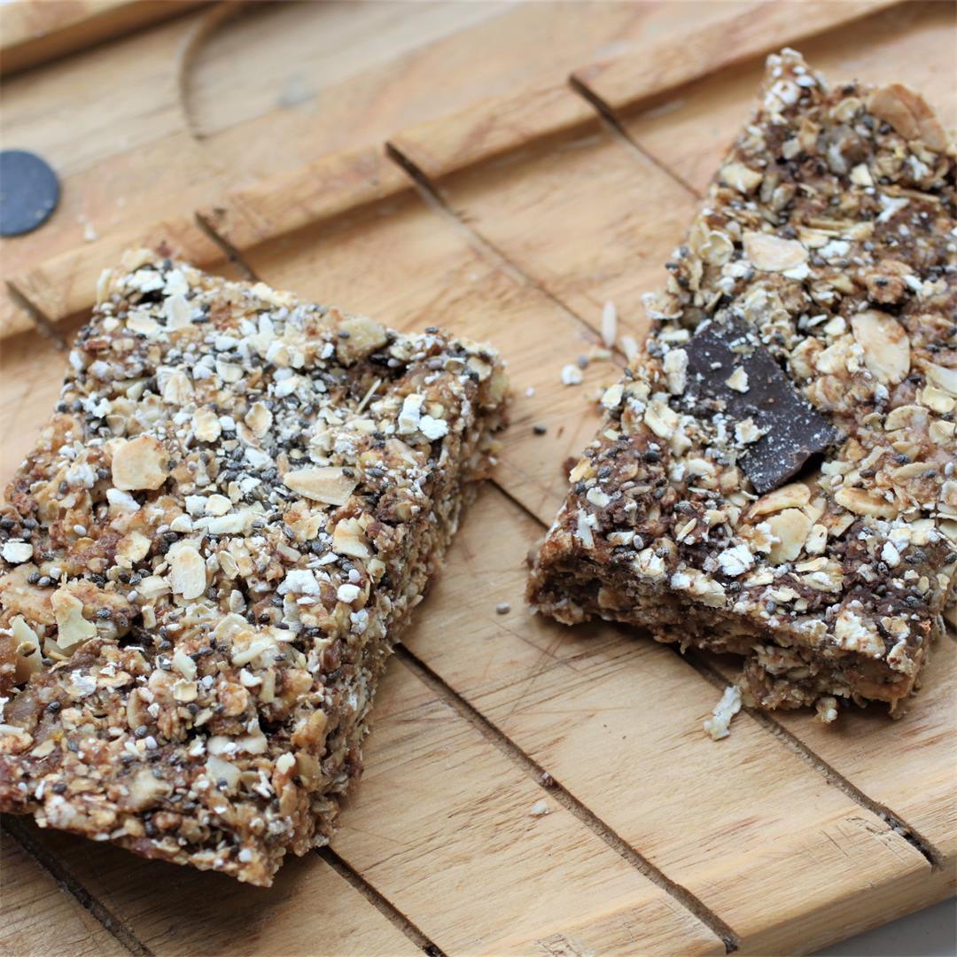 No Bake Granola Bars (Oil Free, Vegan, GF)