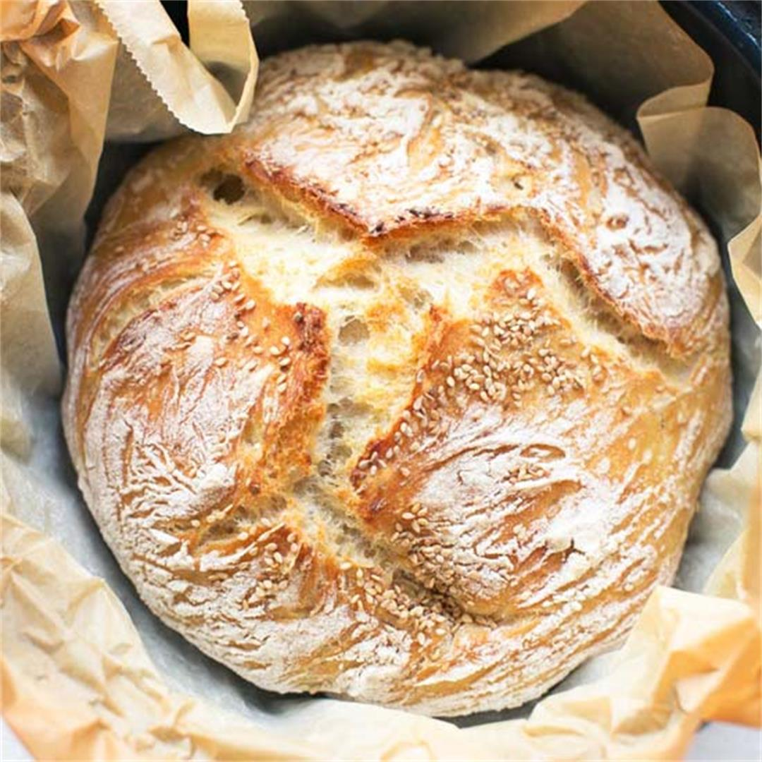 Easy no knead bread recipe