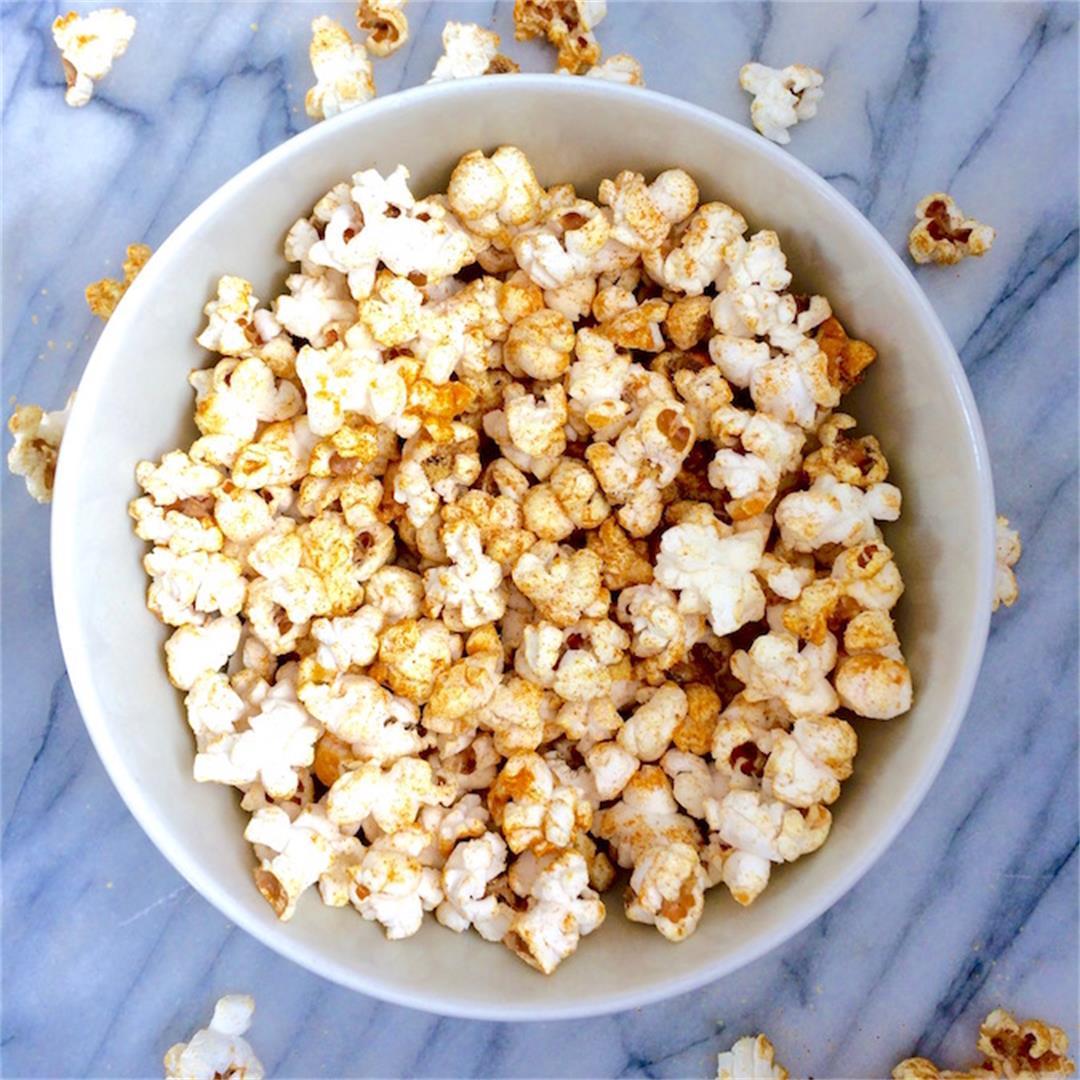 Salty Garlic Turmeric Popcorn
