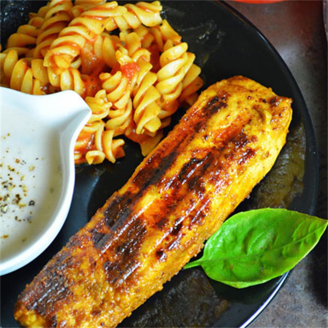 Grilled Salmon Fish Fillets with 3 main ingredients