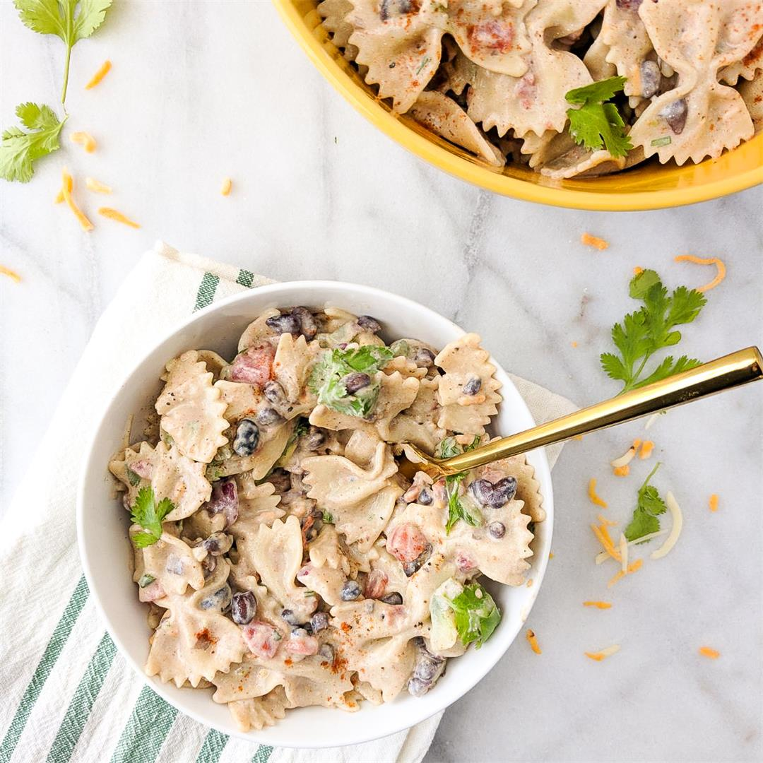 Southwestern Pasta Salad: creamy, a little spicy and delicious!