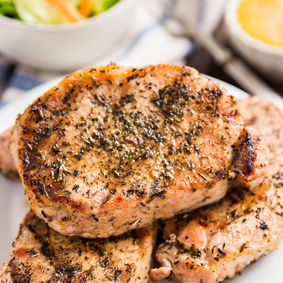 Herb Grilled Pork Chops Recipe