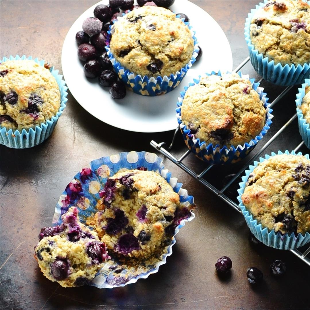 Blueberry Quinoa Muffins with Wheatgerm