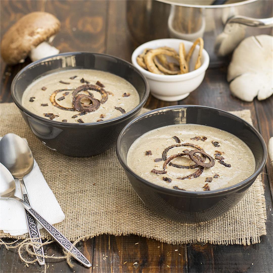 Creamy Italian mushroom soup