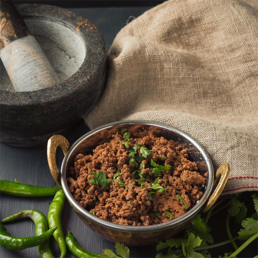Indian Beef Keema - perfect for samosa filling