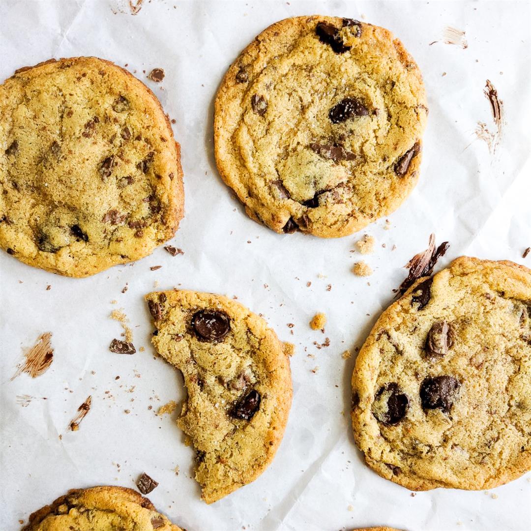 Chickpea Flour Chocolate Chunk Cookies - Gluten Free!