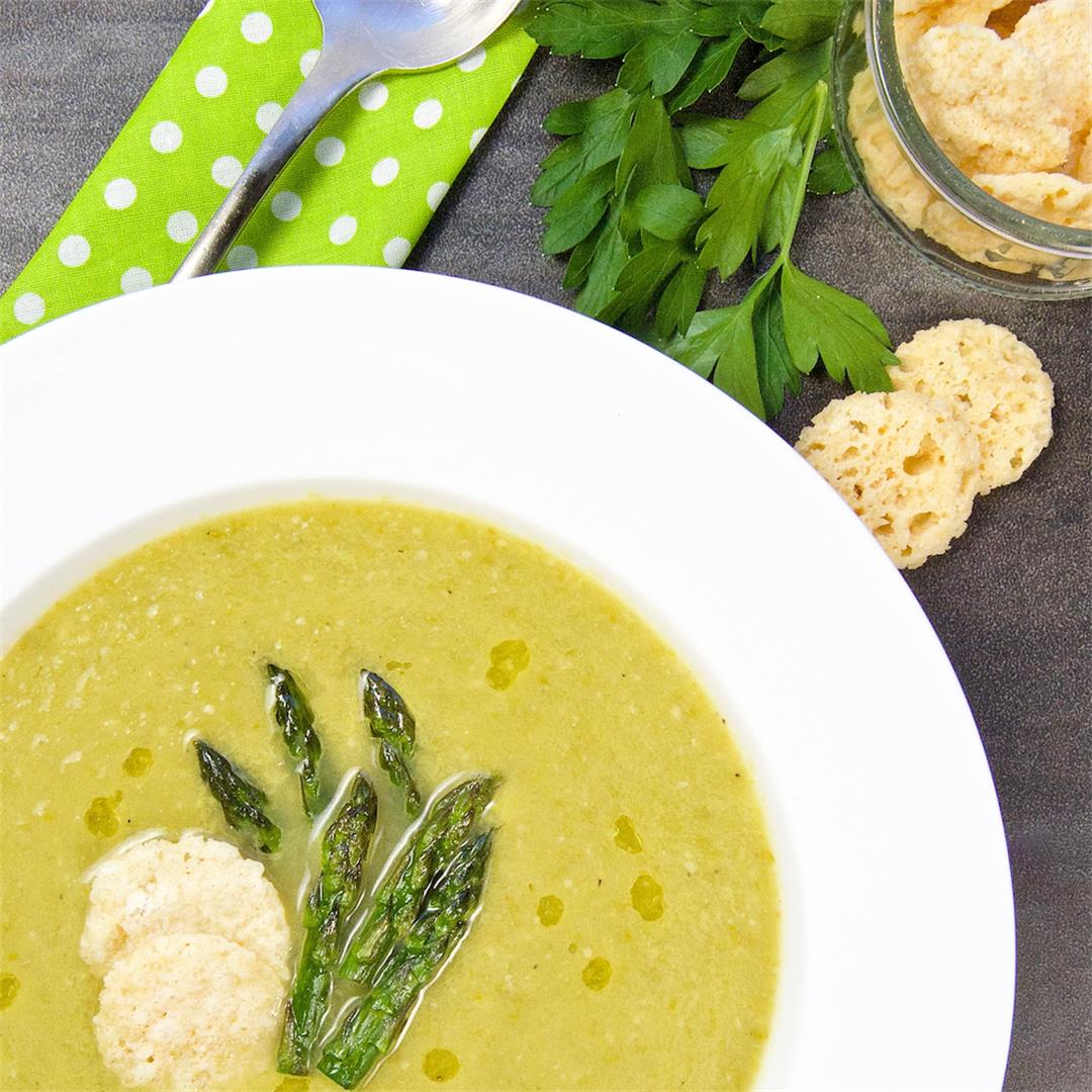 Asparagus Soup Recipe Made With Wine & Cheese